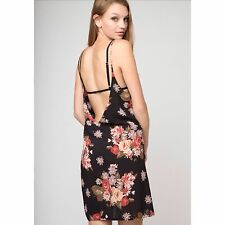 Rare!  Black Brandy Melville floral  open back Lynette slip Dress NWT  Sold Out.
