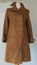 "VINTAGE 1970'S 'CHERRY LONDON' GOLD ULTRA SOFT SUEDE COAT - SEMI FITTED 36"" BUST"