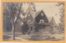 Childs Real Photo Postcard RPPC - Adelphic Hall Olivet College Olivet Michigan