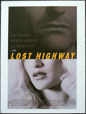 LOST HIGHWAY 1997 FILM MOVIE POSTER PAGE . DAVID LYNCH PATRICIA ARQUETTE  . N1