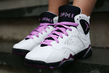 NIKE AIR JORDAN 7 RETRO FUCHSIA GLOW WHITE SHOES 442960-127 (Women's Size: 9)
