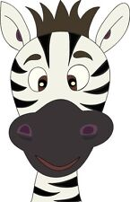 Zebra Cartoon Face Funny Animal Cross Eyed Sticker Decal Graphic Vinyl Label