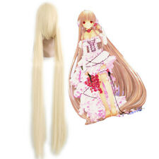Fashion Women's 130cm Long Straight beige Chobits-Chii Cosplay Wig Heatresistant
