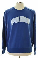 Puma Mens Sweatshirt Jumper Medium Blue Cotton