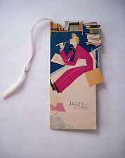 "Vintage 1929 Art Deco Bridge Tally ""Irvin Cobb"" An Author w/ Instructions  *"