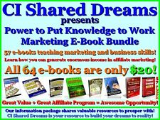 CI Shared Dreams - Power to Put Knowledge to Work - Marketing E-Book Bundle CD