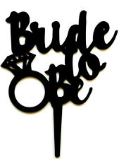 Bride To Be Bridal Shower Wedding Engagement Ring Cake Topper Decoration Sign