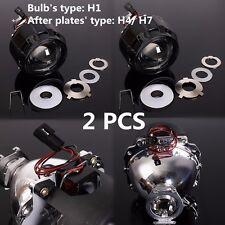 """Pair 2.5"""" Mini HID Bi-xenon Projector lens Headlight Bulb Shroud H1 H4 H7 LHD"""