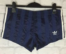 VINTAGE RETRO 90'S ADIDAS SPRINTER HIGH CUT GLANZ SHORTS RUNNING GB XS
