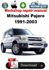 Mitsubishi Pajero 1991 to 2003  Factory Workshop Repair Manual