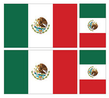 4 X MEXICAN MEXICO FLAG VINYL CAR VAN IPAD LAPTOP STICKER
