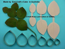 Rose Leaf Cutter & Veiner Cake Decorating Sugar Flower Gum Paste Tools