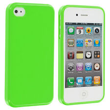 Neon Green Solid TPU Rubber Case Cover for iPhone 4 4S 4G Accessory