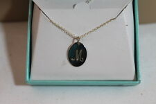 """M"" LETTER GRAPHIC 18"" NECKLACE AND MWS 925 STERLING SILVER PENDANT NEW IN BOX!"