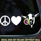 PEACE LOVE GOAT Goats Car Window Trailer Sign Vinyl Decal Sticker WHITE