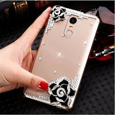 Bling Crystal Gems Diamonds Thin Clear Soft Back Shell Case Cover For Samsung #B
