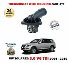 FOR VW TOUAREG 3.0 V6 TDI  225BHP BKS 2004-2010 NEW THERMOSTAT + HOUSING KIT