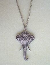 "Indian Elephant Pendant 36"" Extra Long Chain Necklace"