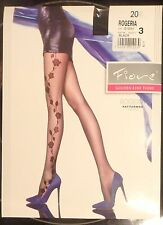 Fiore pantyhose floral patterned SMALL tights sheer Rogeria 20 den - LAST!