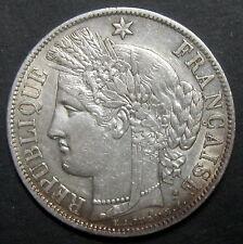 Ecu de 5 Francs CERES 1851 A - II° République  - Etat Rare