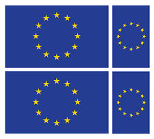 4 X EU EUROPEAN UNION FLAG VINYL CAR VAN IPAD LAPTOP STICKER
