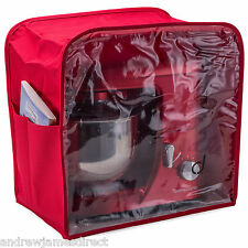 Andrew James Kitchen Food Stand Mixer Dust Cover With Window, Easy Clean, Red