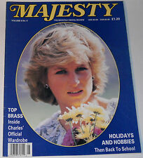 Majesty Magazine Vol 8 No 6 October 1987 Princess Diana Princess Alice