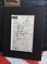City Map of Montreal Canada 1958 Mid Century Black Matted 8x10 Art Print travel