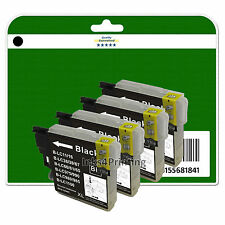 4 Nero cartuccia inchiostro per Brother DCP-J125 J140W J315W J515W non-OEM LC985