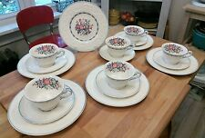 Wedgewood Patrician Morning Glory (18) pieces Dessert Set For (6) England