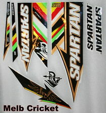 SPARTAN Chris GAYLE AUTHORITY Cricket Bat Stickers - One FULL SET of Labels