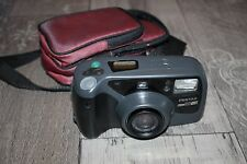 1990's Vintage Pentax Zoom 90 WR 35mm Film Camera With Remote And Universal Case