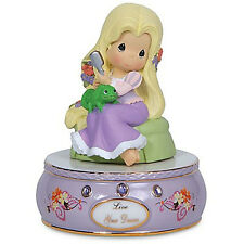 ♪ Disney Tangled Princess Rapunzel Figurine Musical Music Box Precious Moments ♫