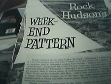 film book item - 1950s - rock hudson weekend pattern