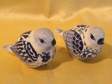 Deux oiseaux en faience de Delft Hollande bleu
