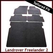 Land Rover Freelander Mk2 2006-2014 Tailored Carpet Car Floor & Boot Mats BLACK