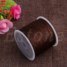 45M Macrame Chinese Knot Cord Nylon Satin Rattail Braided String Cord 0.8mm