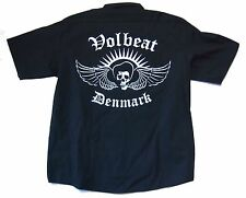 Volbeat Denmark Winged Skull Image Black Dickes Work Shirt 2XL New Official NOS