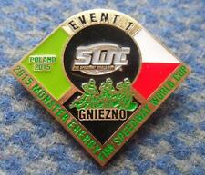 FIM SPEEDWAY MOTORCYCLE WORLD CUP 1 EVENT POLAND GNIEZNO 2015 PIN BADGE