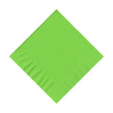 50 Plain Solid Colors Beverage Cocktail Napkins Paper - Citrus Green/Fresh Lime