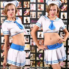 SEXY SAILOR COSTUME NAVY OUTFIT Women UNIFORM Fancy Dress Halloween Lady Pirate