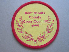 Kent County Cross-Country 1999 Cloth Patch Badge Boy Scouts Scouting