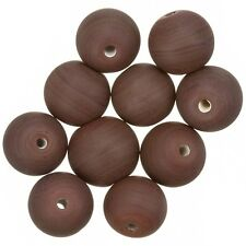Matte Opaque Brown Round Glass Beads 12mm Pack of 10 (A48/1)