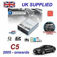 CITROEN C5 05 - > MP3 USB SD CD AUX Ingresso Adattatore Audio Digital CD Changer modulo