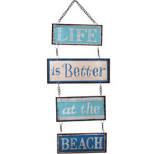 LIFE IS BETTER AT THE BEACH Retro Metal Wall Sign Decor Vintage Nautical Plaque