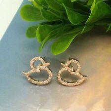Duck Rose Gold Cute Stud New Women Fashion Jewelry Ladies Earrings