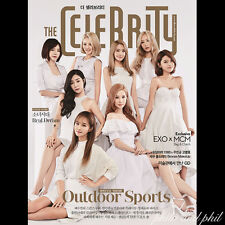THE CELEBRITY Magazine Korea July 2015 SNSD Girls Generation EXO+MCM GD G-Dragon
