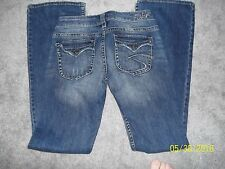 WOMEN DISTRESSED SILVER PIONEER JEANS Size 26 / 33  NICE MUST SEE & BUY