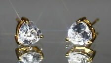 Sparkling 1.25ct Heart Cut 8mm Created Diamond Studs -Y