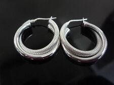 nuova argento 925 cerchietto orecchino semplice + design